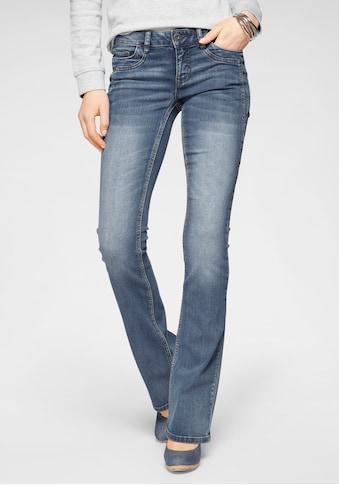 Arizona Bootcut-Jeans »mit Keileinsätzen«, Low Waist kaufen