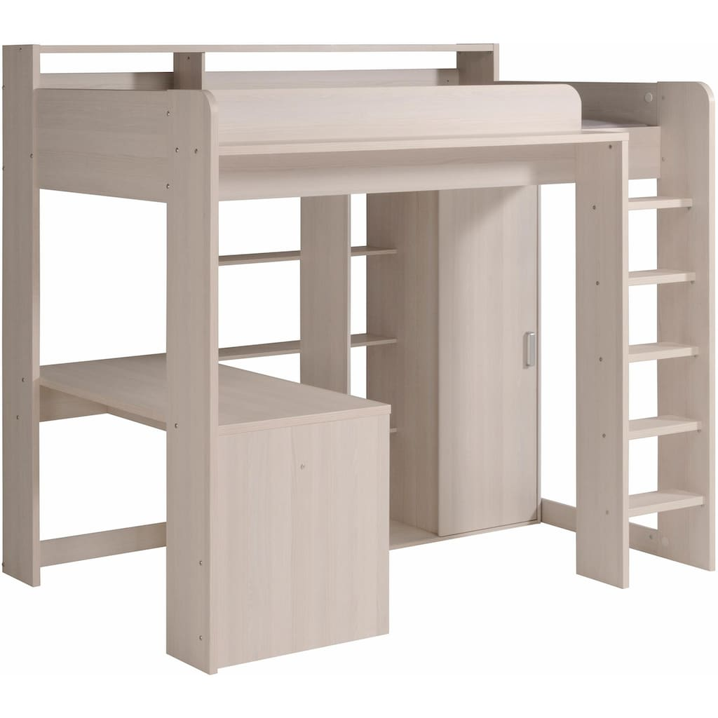 Parisot Hochbett »Higher«, inkl. Schrank und Schreibtisch