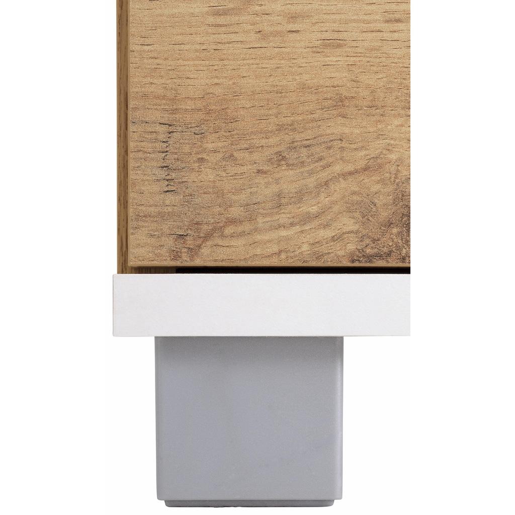 Schildmeyer Midischrank »Rhodos«, Breite 30 cm, verstellbarer Einlegeboden, wechselbarer Türanschlag, Metallgriff