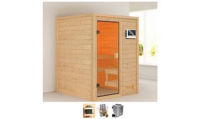 Karibu Sauna »Sandy«, 4,5-kW-Bio-Ofen mit ext. Steuerung kaufen