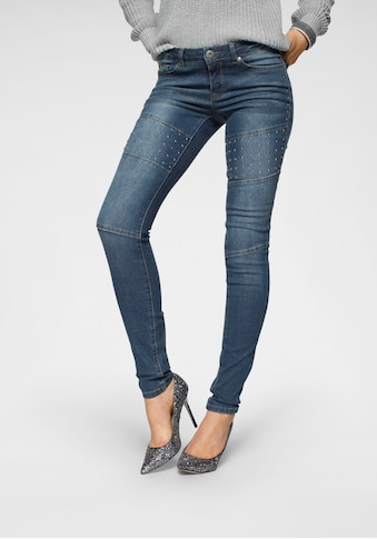 Arizona Skinny-fit-Jeans »im Biker-Look«, Low Waist kaufen