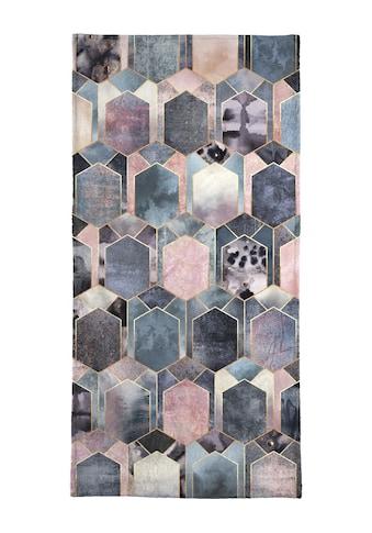 Juniqe Handtuch »Art Deco Dream«, (1 St.), Weiche Frottee-Veloursqualität kaufen