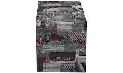 HOSSNER - HOMECOLLECTION Tischläufer »Koro«, (1 St.), mit weihnachtlichem Motiv kaufen