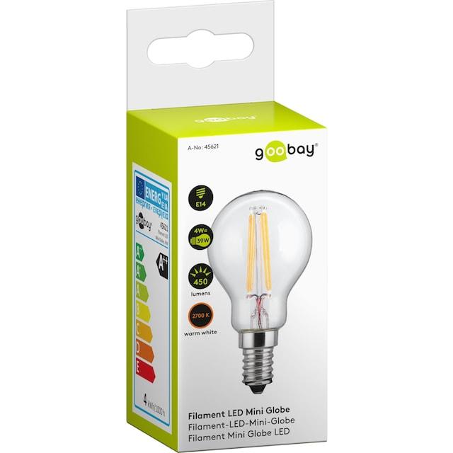 Goobay LED Lampe »Filament Mini-Globe für E14 Fassung, 4 Watt«