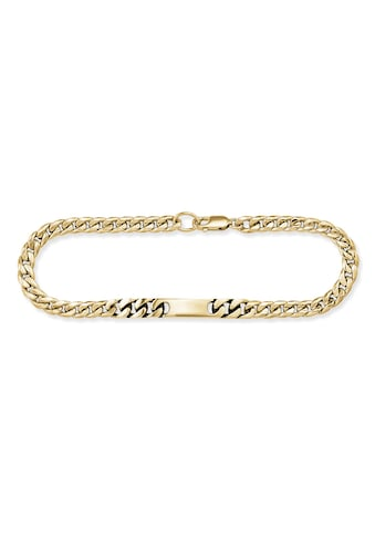 CAÏ Armband »925/- Sterling Silber vergoldet 19cm«, Flachpanzerkette kaufen