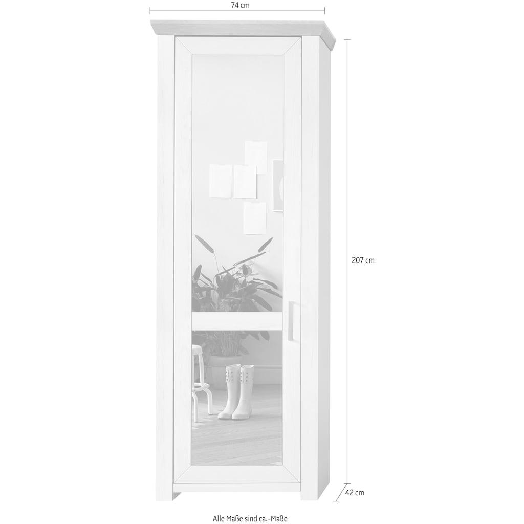 set one by Musterring Garderobenschrank »york«, mit Spiegel Typ 01/Typ 12, im Landhausstil