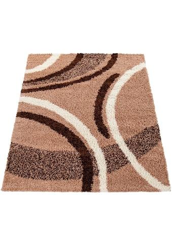 Paco Home Hochflor-Teppich »Mango 301«, rechteckig, 35 mm Höhe, Moderner Hochflor Shaggy Teppich, Wohnzimmer kaufen