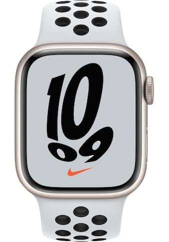 Apple Smartwatch »Nike Series 7, GPS, Aluminium-Gehäuse, 41mm«, (Watch OS 8) kaufen