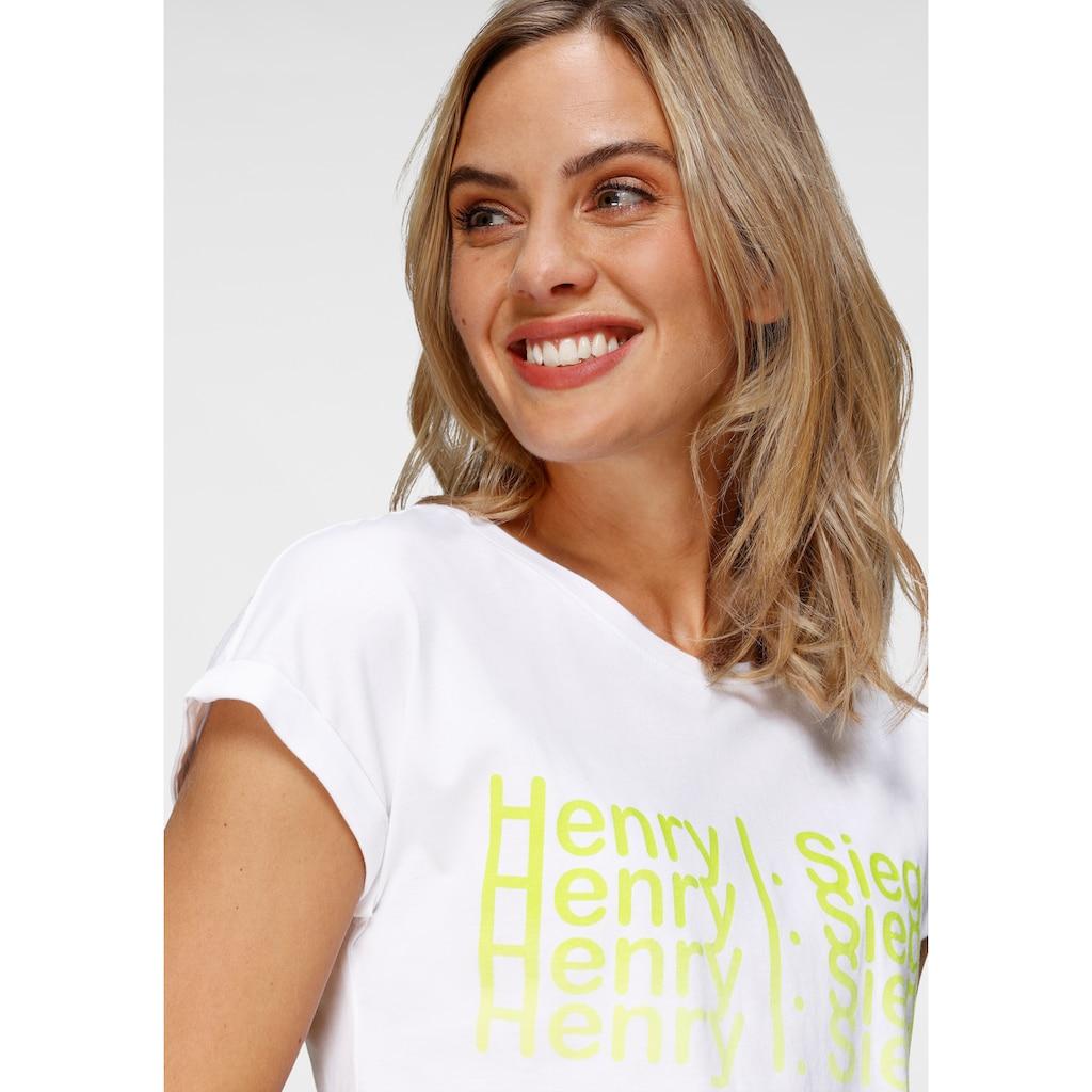 H.I.S Kurzarmshirt, mit Neon-Print von H.I.S