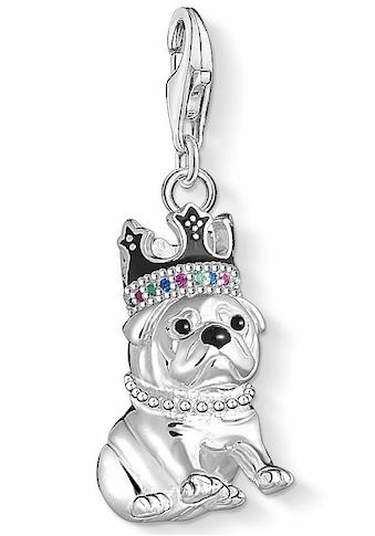 THOMAS SABO Charm-Einhänger »Bulldogge mit Krone, 1510-497-21«, mit Emaille,... kaufen
