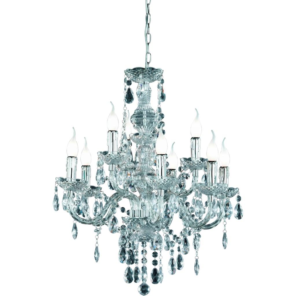 TRIO Leuchten Kronleuchter »KRONE«, E14, Hängeleuchte, Pendellampe, Pendelleuchte