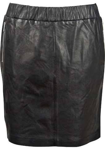 Gipsy Lederrock, mit Zippertaschen & zweifarbigem Seitenstreifen kaufen