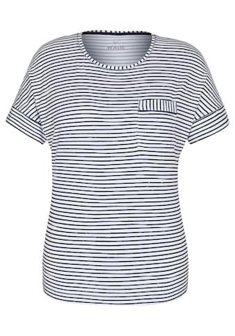 Rabe T-Shirt, mit Mustermix und überschnittenen Schultern kaufen
