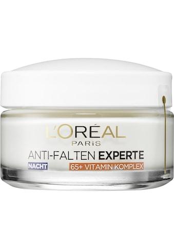 L'ORÉAL PARIS Anti-Aging-Creme »Anti-Falten Experte Feuchtigkeitspflege Nacht für Haut... kaufen
