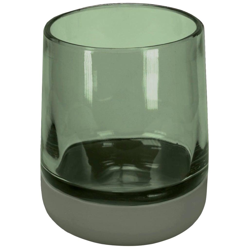 Kleine Wolke Zahnputzbecher »Belly«, hochwertige Accessoire Serie aus Glas mit Silikon Fuß