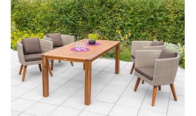 MERXX Diningset »Imperia«, 13 - tlg., 4x Sessel, Tisch 90x185 cm, inkl. Auflagen kaufen