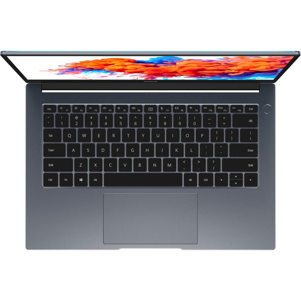 "Honor Notebook »MagicBook 14 8GB+512GB«, (35,56 cm/14 "" Intel Core i5 Iris© Xe Graphics\r\n 512 GB SSD), Kostenloses Upgrade auf Windows 11, sobald verfügbar"