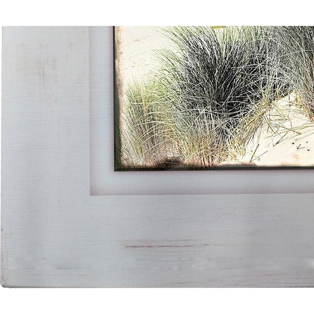 Home affaire Holzbild »Strand mit Gräsern«, 40/40 cm