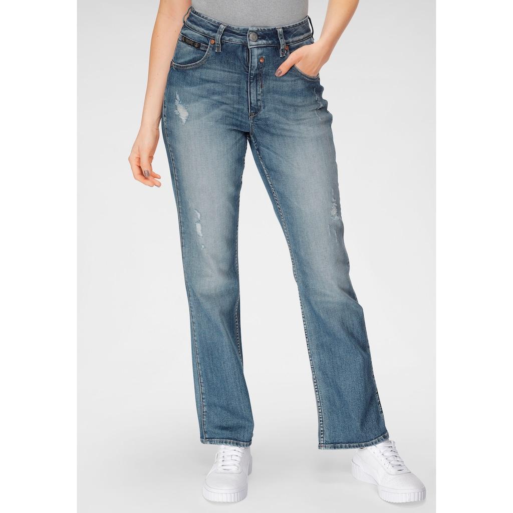 Herrlicher Bootcut-Jeans »TOUCH HI BOOT ORGANIC DENIM«, mit Destroyed Effekten
