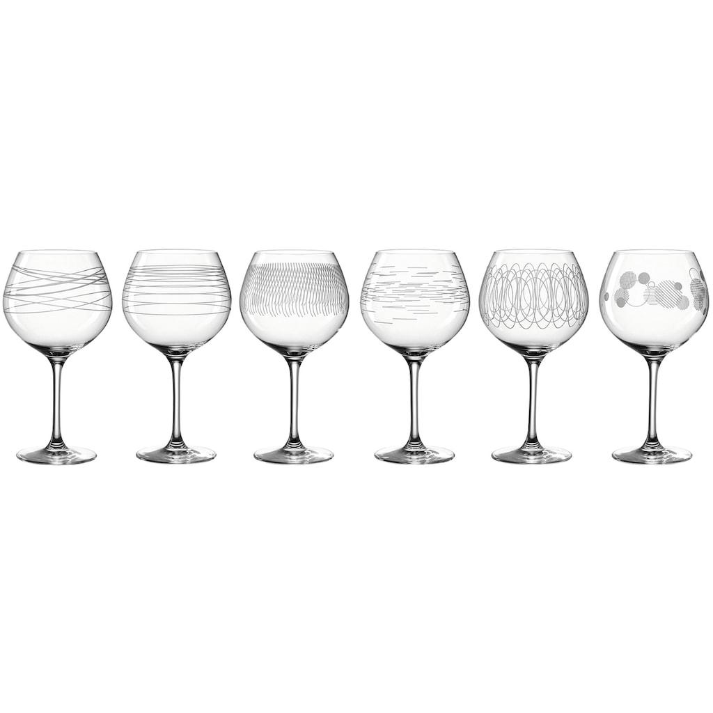 LEONARDO Portweinglas »Casella«, (Set, 6 tlg.), für Burgunder, 630 ml, 6-teilig