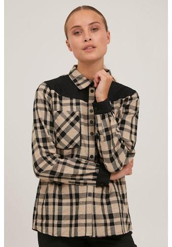 Pulz Jeans Hemdbluse »PZJULIETTE Shirt 50206247«, Karierte Hemdbluse mit abgesetzten... kaufen