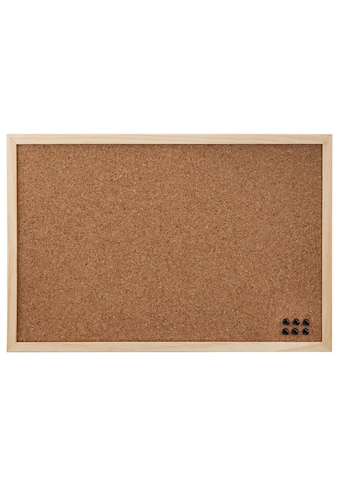 Hama Pinnwand, 29,5 x 39,5 cm, Holz, beidseitig Kork, Natur kaufen