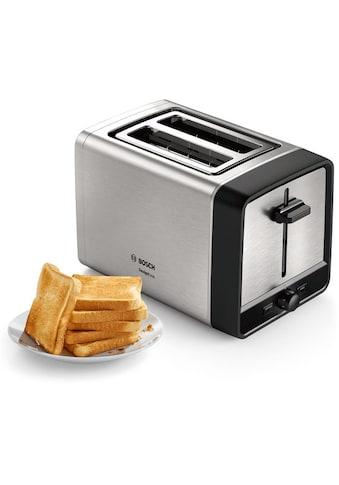 BOSCH Toaster »TAT5P420DE DesignLine«, 2 kurze Schlitze, 970 W kaufen