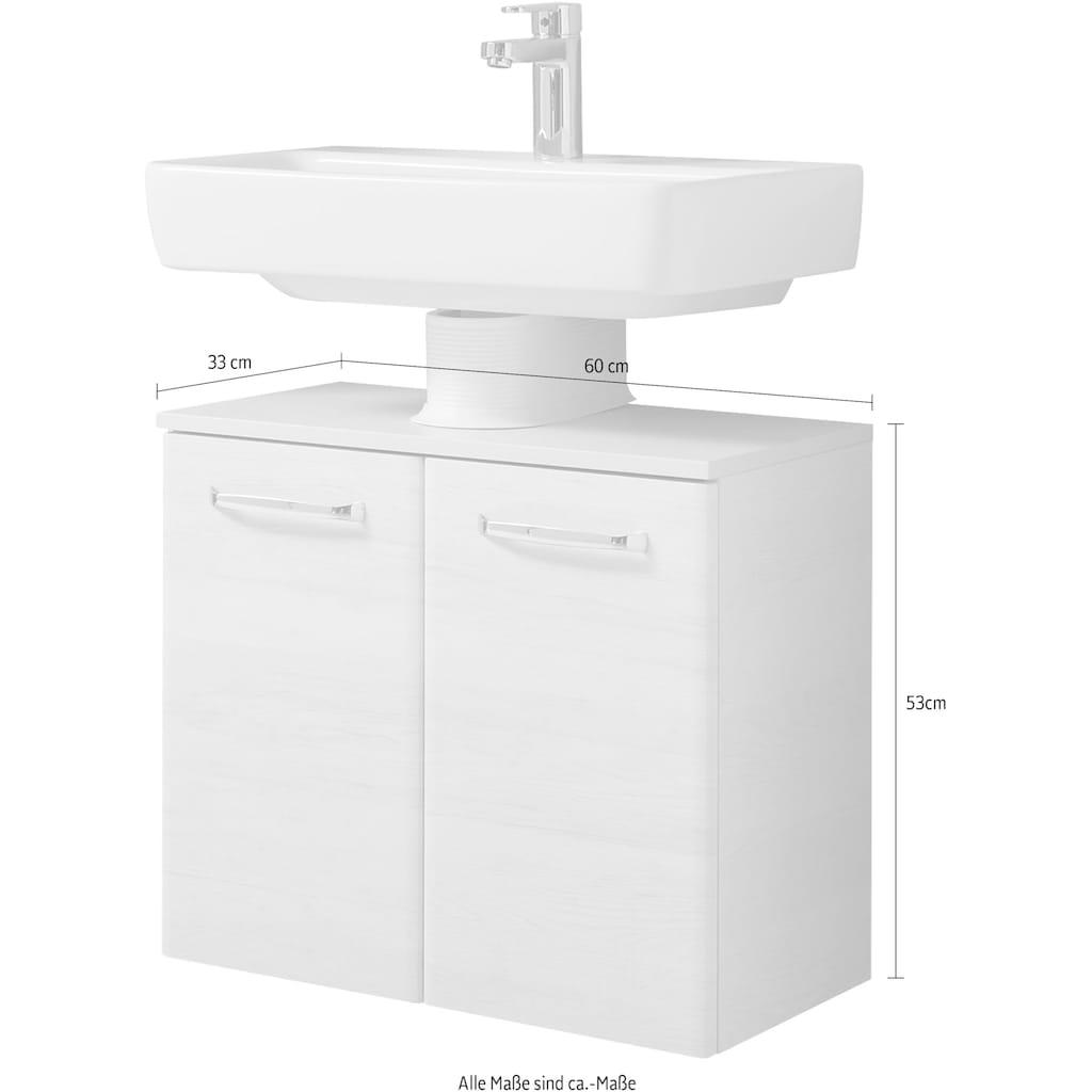 PELIPAL Waschbeckenunterschrank »Quickset 936«, Breite 60 cm, Höhe 53 cm, Türdämpfer
