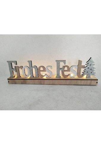 my home Deko-Schriftzug »Frohes Fest«, mit LED kaufen