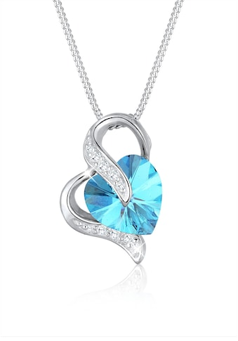 Elli Collierkettchen »Herz Zirkonia Kristalle Silber« kaufen