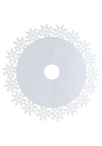 Baumteppich »Schneeflocke«, rund, 4 mm Höhe, Christbaumdecke Ø 100 cm kaufen