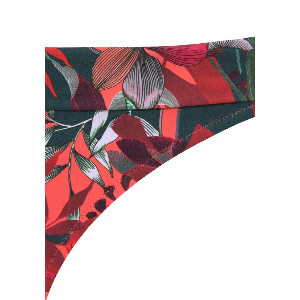 JETTE Bügel-Bandeau-Bikini, mit floralem Print