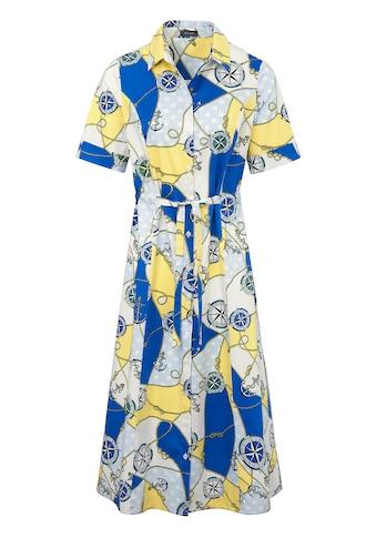 Basler Kleid mit maritimem Print und Bindegürtel kaufen