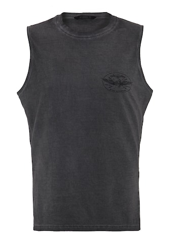 KingKerosin Tanktop »Ride Like Thunder«, mit kleinem Brust Print in Oil Dye kaufen