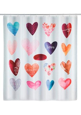 WENKO Duschvorhang »Love«, Breite 180 cm, Höhe 200 cm, Polyester, waschbar kaufen
