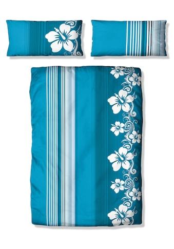my home Bettwäsche »Kelli«, mit Streifen und Blüten kaufen