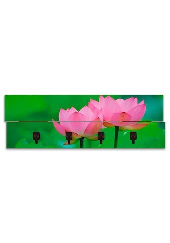 Artland Garderobenpaneel »Blühende Lotusblume«, platzsparende Wandgarderobe aus Holz... kaufen