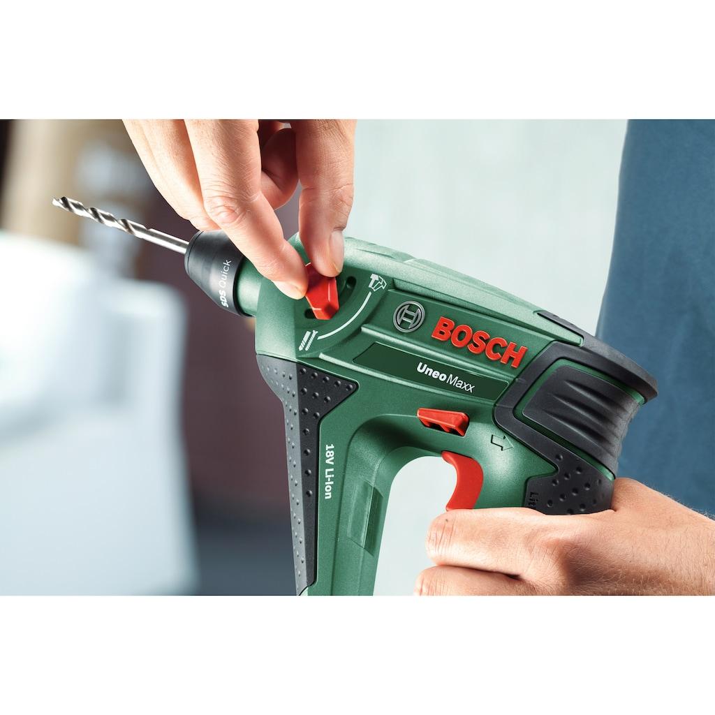 BOSCH Akku-Bohrhammer »Uneo Maxx«, (Set), inkl. 2 Akkus, Ladegerät, Koffer