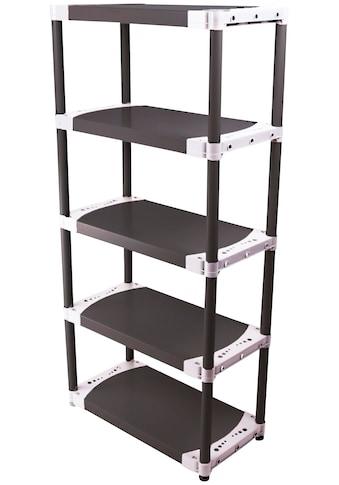 ONDIS24 Steckregal »TIN 80«, 5 Fachböden, Kunststoff kaufen
