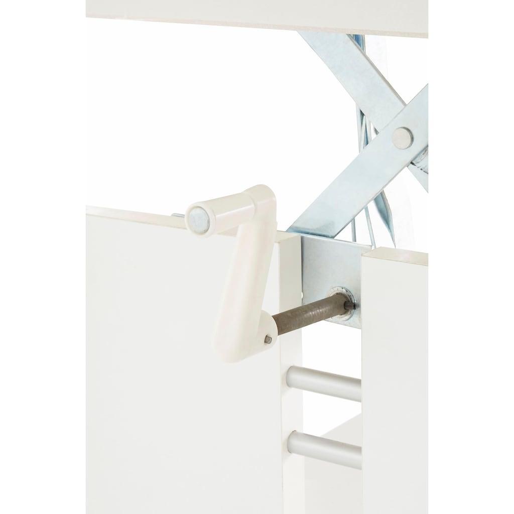 HELA Couchtisch, Höhenverstellbar und ausziehbar