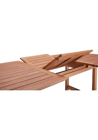 MERXX Gartenmöbelset »Maracaibo«, 13 - tlg., 6Hochlehner, Tisch 210x90 cm, Eukalyptus kaufen