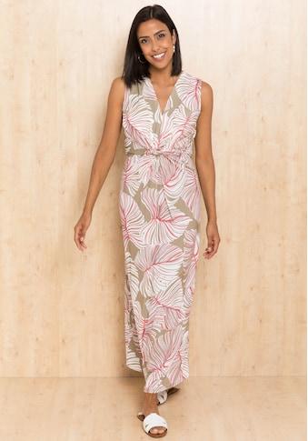 bianca Maxikleid »DINORAH«, im stylischen Blätter-Print mit Knotendetail kaufen