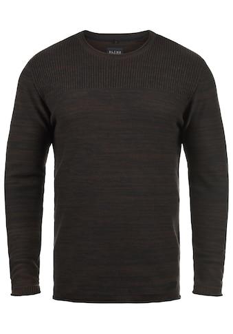 Blend Rundhalspullover »Lino«, Strickpullover aus 100% Baumwolle kaufen