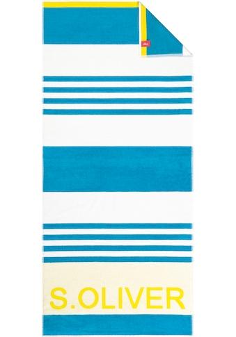 s.Oliver Strandtuch »Bath Streifen«, (1 St.), in knalligen Farben kaufen