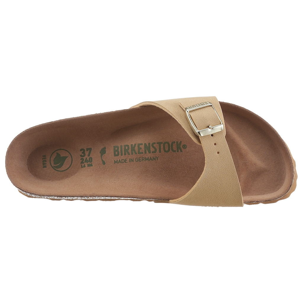 Birkenstock Pantolette »Madrid Earthy Vegan«, in veganer Verarbeitung, Schuhweite: schmal