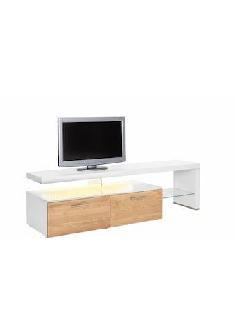 GWINNER Lowboard »SOLANO«, Lack weiß, mit 2 Schubladen, Breite 195 cm kaufen