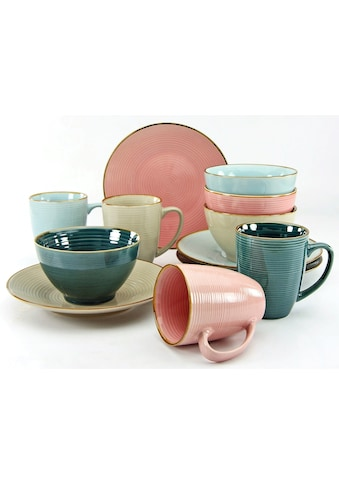 "CreaTable Frühstücks - Set ""Cosy Morning"" (12 - tlg.), Steinzeug kaufen"