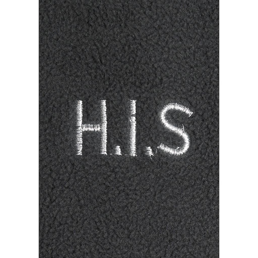 H.I.S Fleecejacke »aus nachhaltig recyceltem Polyester«, in großen Größen
