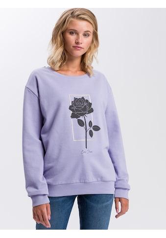 Cross Jeans® Sweatshirt »65227«, Frontprint mit Glanzelementen kaufen