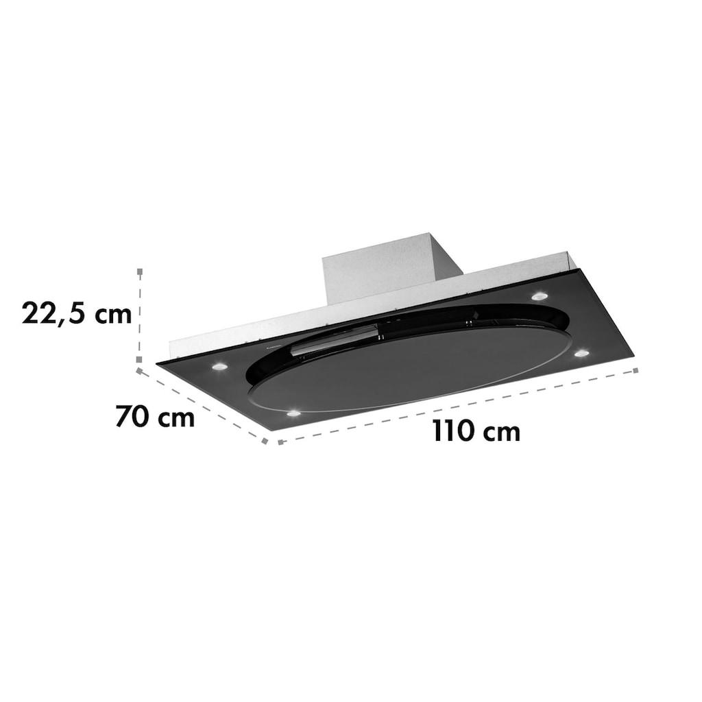 Klarstein Deckenhaube Dunstabzugshaube 220W Touch Glas LED